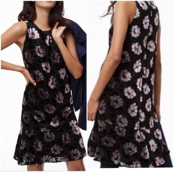 6fe660c88e89 LOFT Dresses | Nwt Iced Floral Velvet Swing Dress | Poshmark